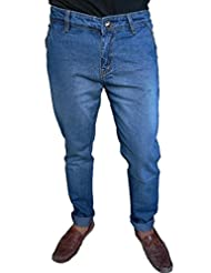 Oiin Men's Slim Fit Cross Pocket Jeans