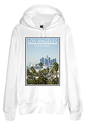 Men French Terry Hoodie - Los Angeles City of Angels