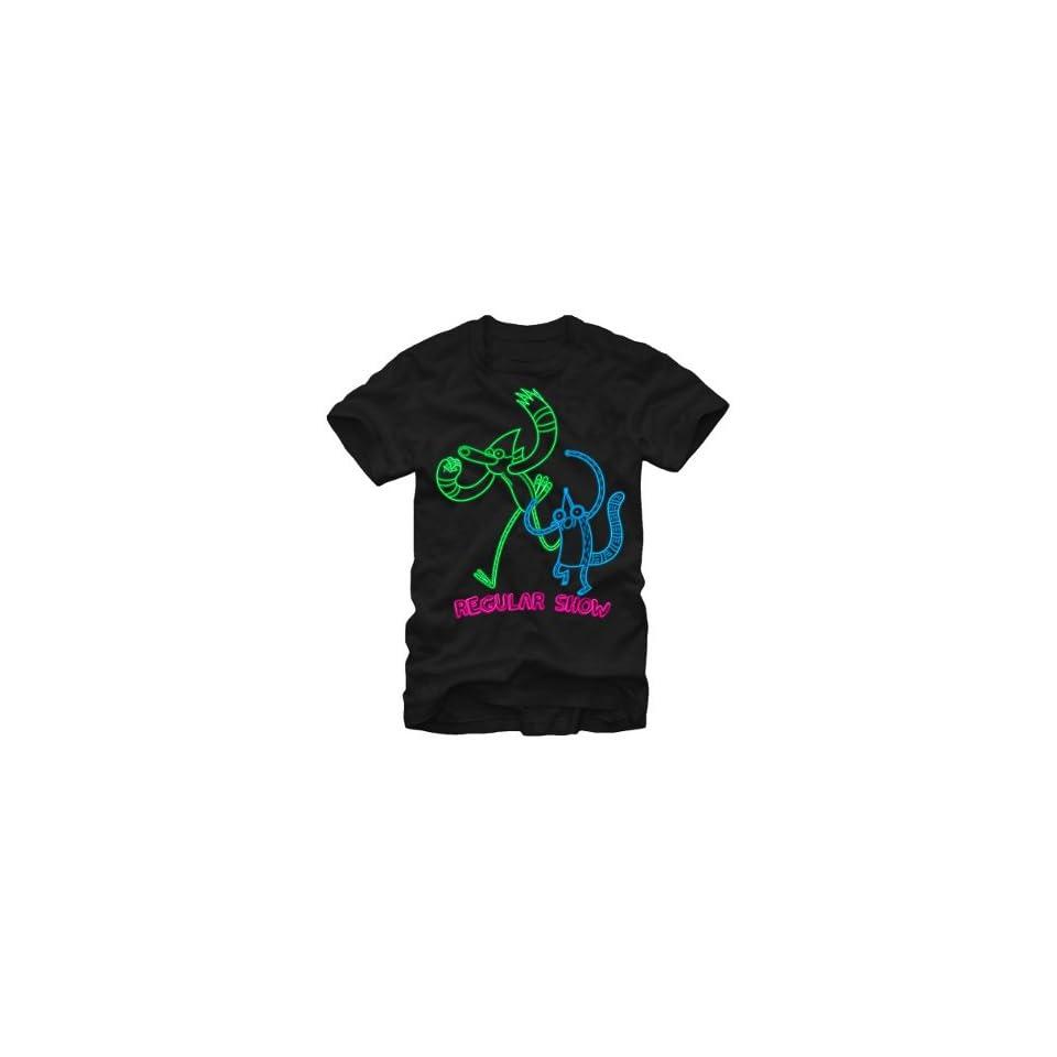 Regular Show Mordecai And Rigby Ooh Neon Adult T Shirt Regular Show