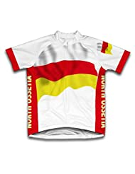North Ossetia Flag Short Sleeve Cycling Jersey for Women