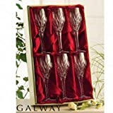 Galway Crystal Clifden Wine Goblets Set of 6 - Delivery from Ireland within 6-9 Days