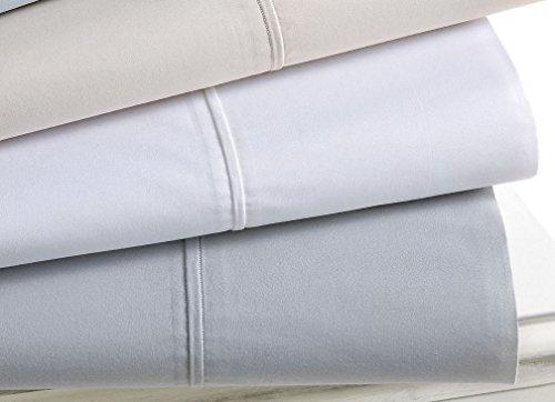 Martha Stewart Collection Bedding, Luxury Percale Queen Flat Sheet, White