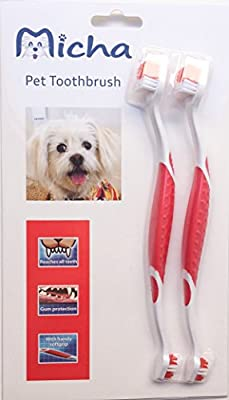 Pet Toothbrush For Dogs with a New Comfortable Ergonomic Design
