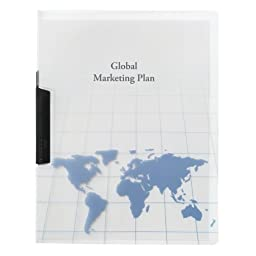 GBC World Map Design Punch-free Swing Clip Report Cover (21540)