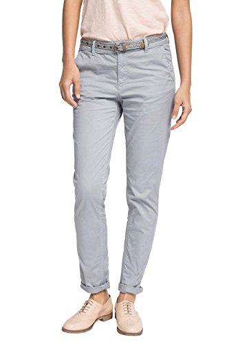 ESPRIT 046EE1B031 Pantaloni con Cintura, da Donna, Colore Grigio (Light Grey 040), Taglia W46/L30 (Taglia Produttore: 42)