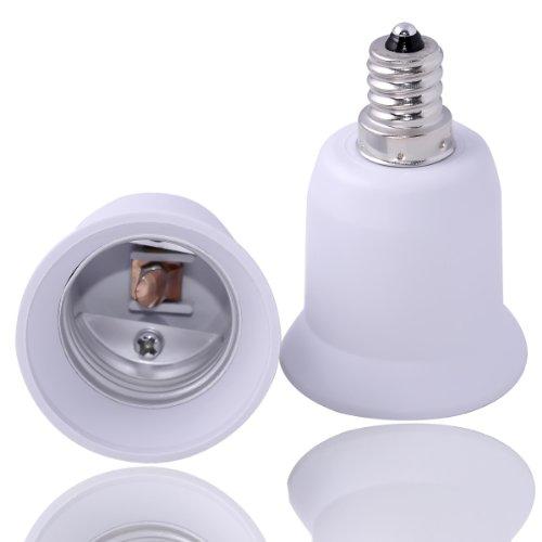 Fixed Design Max Watt 180W JACKYLED 3 in 1 E27//E26 Socket Adapter Splitter Extend Lamp Holder Converter Base E26//E27 Standard LED Bulbs Holder Adapter