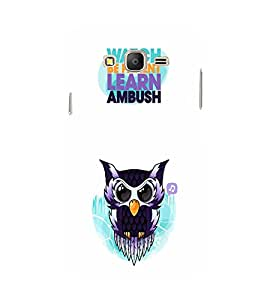 EPICCASE Watching Owl Mobile Back Case Cover For Samsung Galaxy E5 (Designer Case)