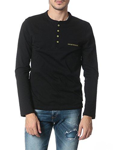 (エンポリオアルマーニ) EMPORIO ARMANI 胸ロゴ ヘンリーネック 長袖 Tシャツ 【111021 5A581】 [並行輸入品]