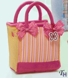 Fancy Schmancy Purse Pets Pink Yellow Stripe