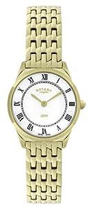 Rotary Damen-Armbanduhr XS Ultraflach Analog Quarz Edelstahl beschichtet LB08002/01