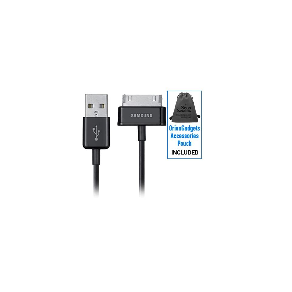 Oriongadgets Sync & Charge USB Data Cable (OEM) for Samsung Galaxy Tab (Includes OrionGadgets Accessory Pouch)