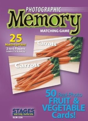 Photographic Memory: Fruits and Vegetables - Buy Photographic Memory: Fruits and Vegetables - Purchase Photographic Memory: Fruits and Vegetables (Stages Learning Materials, Toys & Games,Categories,Games,Card Games,Flash Cards)