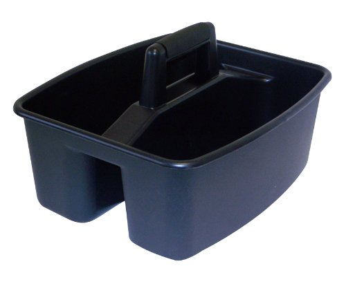 United Solutions Cd0061 Rough And Rugged Black Storage Caddy-Black Caddy With Black Handle To Organize Your Office Or Home