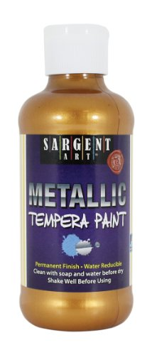 Sargent Art 22-5010 8-Ounce Metallic Tempera in Clear Bottle