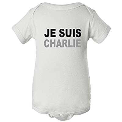 Je Suis Charlie, I Am Charlie Support France One Piece Baby Bodysuit