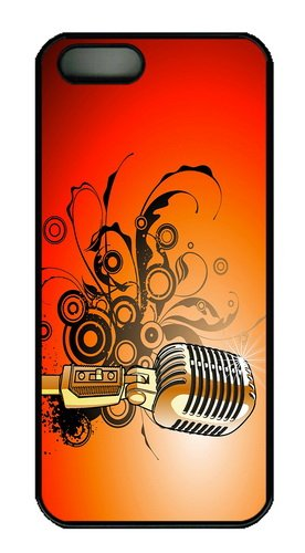 Case Underwater Microphone Vector Art Pc Black Case For Iphone 5/5S