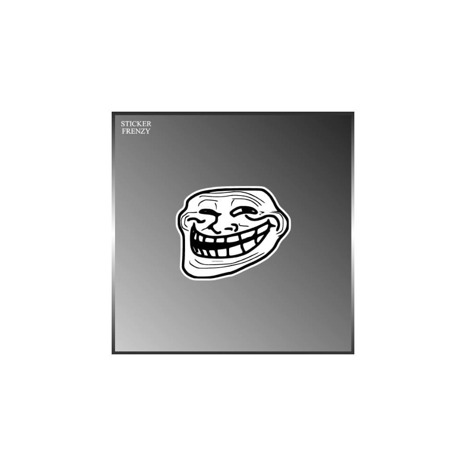 Troll face internet meme funny vinyl decal bumper sticker