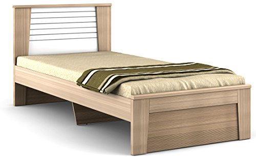 Hometown Ambra Single Bed (Glossy Finish, White Larch)