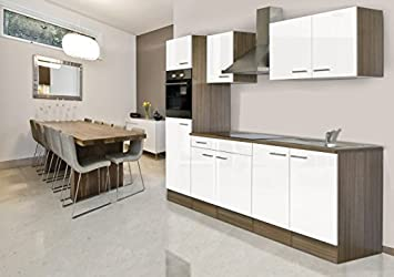 Respekta York Oak Fitted Kitchen/Empty Kitchen/Empty Units/270 cm White