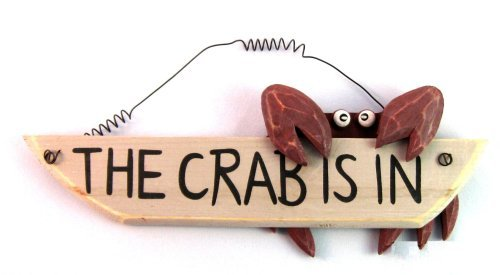 The Crab Is In - Wood Sign Boat Beach Nautical Decor - 11