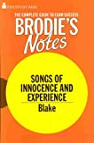 "Image of Brodie's Notes on William Blake's ""Songs of Innocence and of Experience"""