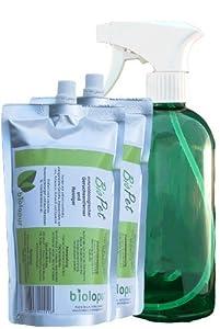Biolopur | 2 x 450ml KONZENTRAT ergibt 9L Fertiglösung + leere Sprühflasche | BioPet | Geruchsentferner | Haustier - Katze