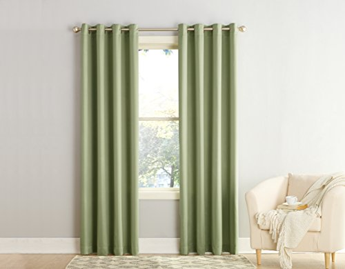 Sun Zero Barrow Energy Efficient Grommet Curtain Panel, 54 x 84 Inch, Sage Green (Panel Curtain Green compare prices)