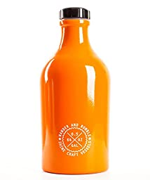 Wander and Rumble Beer Growler,  64 oz., Autumn Orange