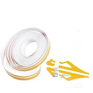 "Smart Yellow 385"" Double Streamline PinStripe Tape Vinyl Decal Stickers Universal Fits"