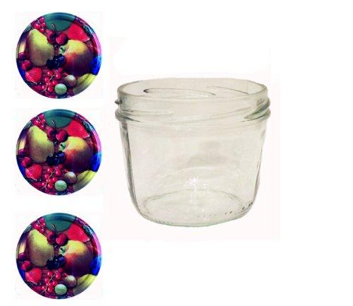 Sturzgläser Lot de 40pots en verre avec couvercles décor de fruits To 82 230 ml