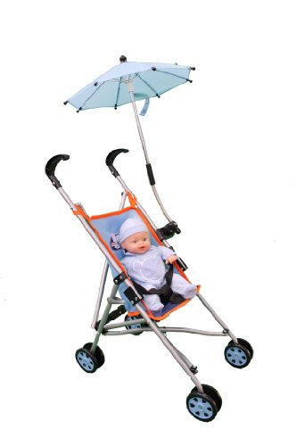Chica & Chico Mommy & Me 3 In 1 Deluxe Boy Doll Stroller With Folding Umbrella & 12