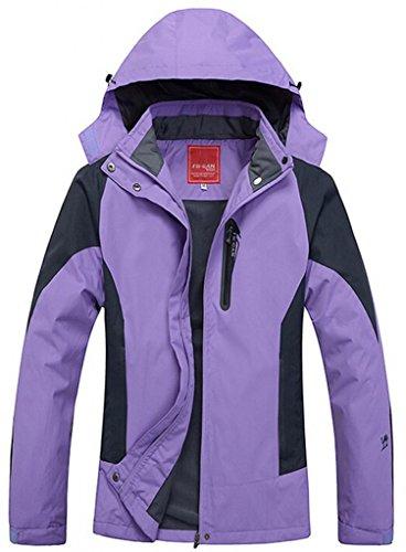 Cloudy Women's Spring Waterproof Front-Zip Hooded Rain Jacket