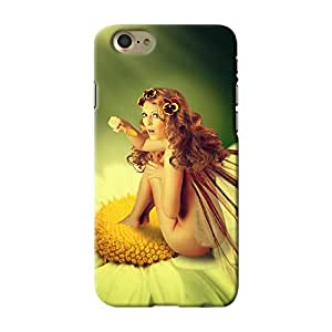 ArtzFolio Fairy Woman With Wings Is Sitting On A Chamomile Flower : Apple iPhone 7 Matte Polycarbonate ORIGINAL BRANDED Mobile Cell Phone Protective BACK CASE COVER Protector : BEST DESIGNER Hard Shockproof Scratch-Proof Accessories : Fantasy