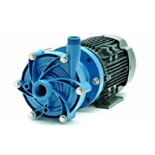 Finish Thompson DB6P-M224 Centrifugal Magnetic Drive Pump, Polypropylene, 1/3 HP, 115/208-230V, 1 Phase, 33.0 Max Feet of Head, 40.0 gpm