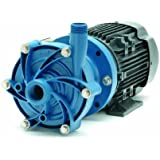 Finish Thompson DB6HP-M227 Centrifugal Magnetic Drive Pump, Polypropylene, 1/2 HP, 230/460V, 3 Phases, 54.0 Max Feet of Head, 42.0 gpm