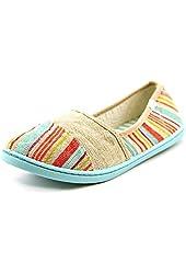 Roxy Pier II Womens Fabric Loafers Shoes