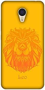 The Racoon Lean printed designer hard back mobile phone case cover for Meizu M3 Note. (Leo)