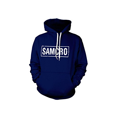 SAMCRO Distressed Hoodie (Navy), Large
