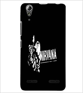 PrintDhaba Nirvana D-2405 Back Case Cover for LENOVO A6000 (Multi-Coloured)