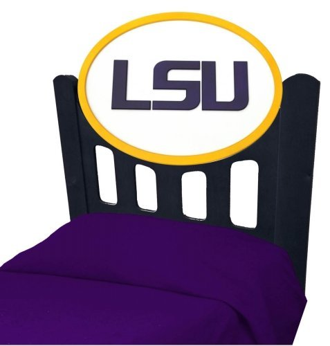 Cheap LSU Tigers Louisiana State Kids Wooden Twin Headboard With Logo (C0526S-LSU)