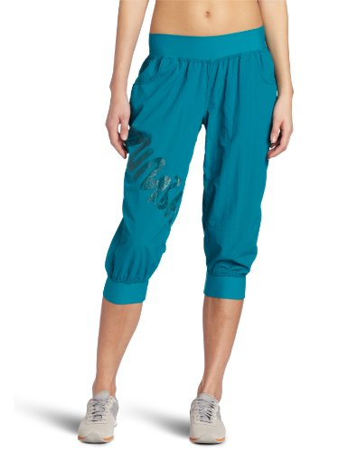 Zumba Fitness LLC Women's Feelin It Cargo Capri, Peacock, La