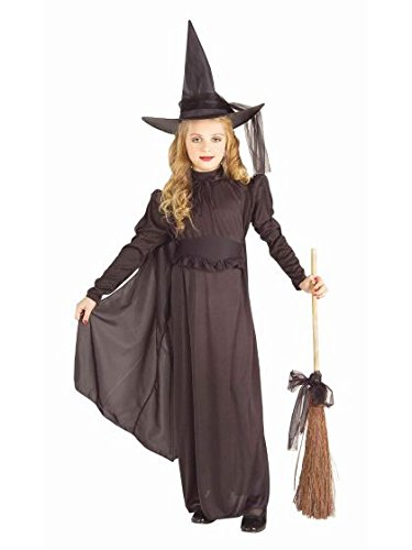 Girls Halloween Black Witch Outfit