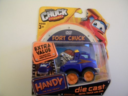 Tonka Chuck & Friends Handy the Tow Truck & DVD - Die Cast Metal Truck - 1