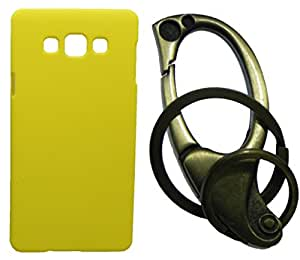 Toppings Hard Case Cover With Matallic KeyChain For Samsung Galaxy On7 - Yellow