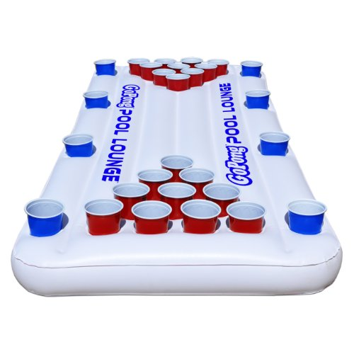 Best Price GoPong Pool Lounge Beer Pong Inflatable with Social Floating, White