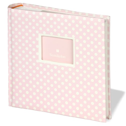 jumbo-album-baby-rose-medium-dots-50-sheets-photo-mounting-board-beige-and-glassine-sheet-protectors