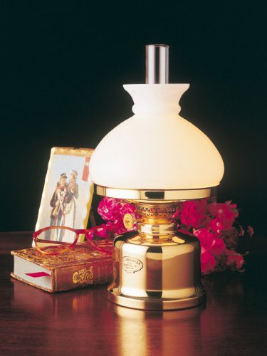 E.S. Sorensen Danish Table Oil Lamp  White Vesta