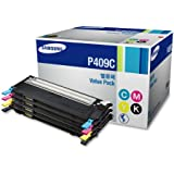 Samsung CLT-P409C Value Pack Cyan, Magenta, Yellow, Black 1 Each for CLP-315, CLP-315W, CLX-3175FN, CLX-3175FW