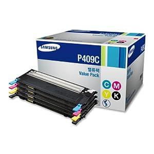 Samsung CLT-P409C Value Pack Cyan, Magenta, Yellow, Black 1 Each for CLP-315, CLP-315W, CLX-3175FN, CLX-3175FW