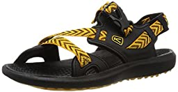 KEEN Men\'s Maupin Sandal, Black/Golden Yellow, 15 M US